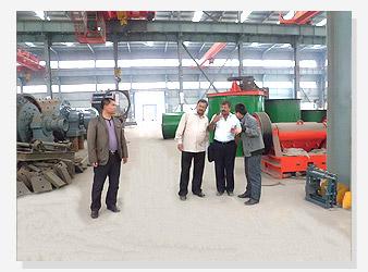 印度客户考察金矿生产线设备