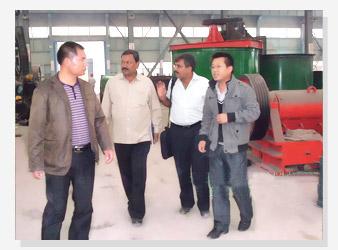 印度客户考察金矿生产线设备2
