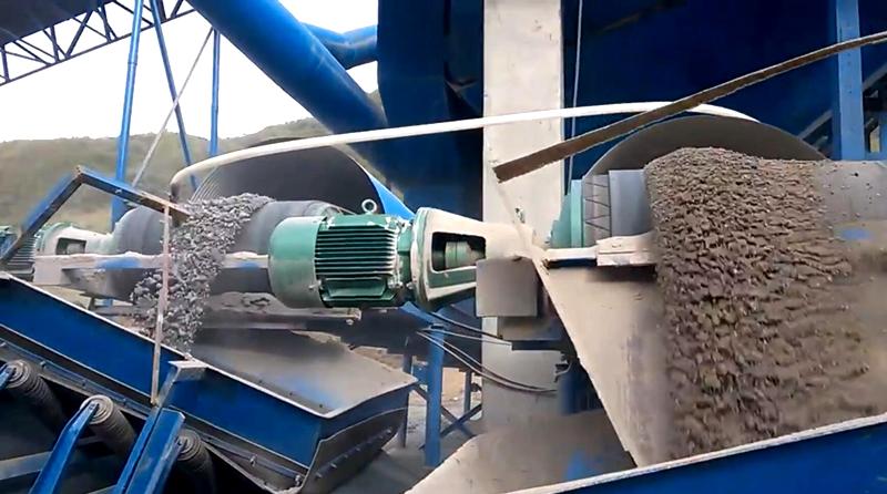 山西环保型时产100吨石灰石机制砂生产线现场视频/