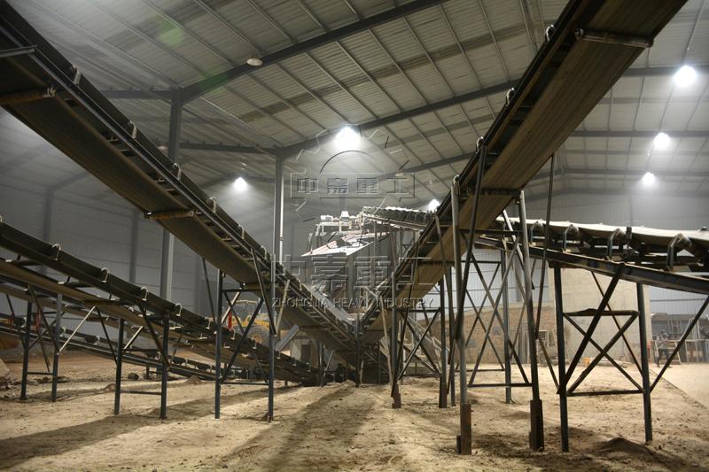 日产2000吨砂石料生产线现场图片4