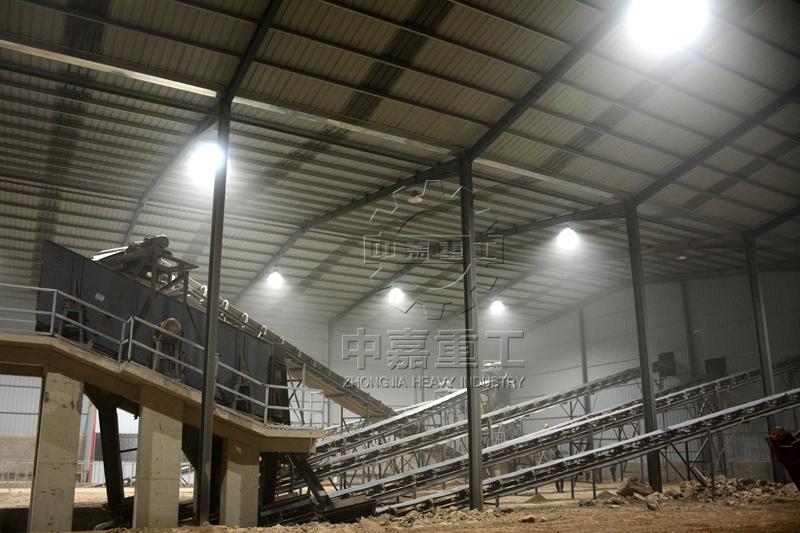 日产2000吨砂石料生产线现场图片3