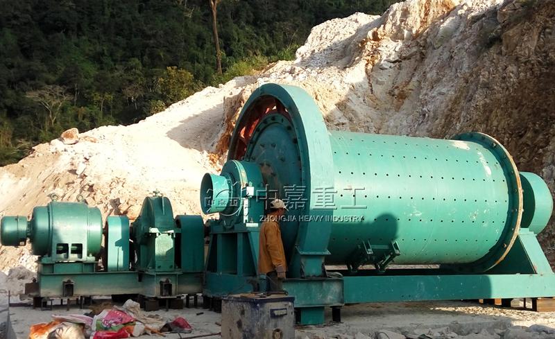 缅甸日处理250吨锰矿选矿生产线现场/