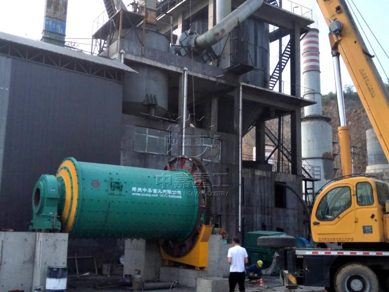山西800吨活性石灰生产线煤粉制备系统现场2